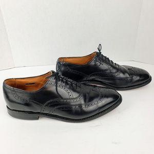 Allen Edmonds sz 10D Chester Oxfords black leather